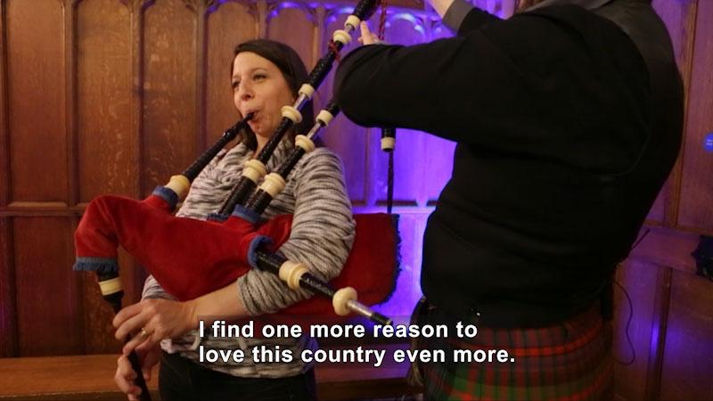 Still image from Bare Feet With Mickela Mallozzi: Hogmanay in Scotland