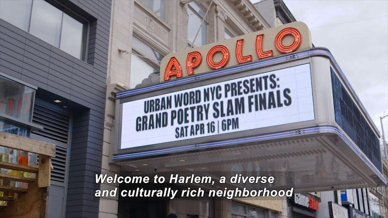 Still image from: Bare Feet With Mickela Mallozzi: Harlem, USA