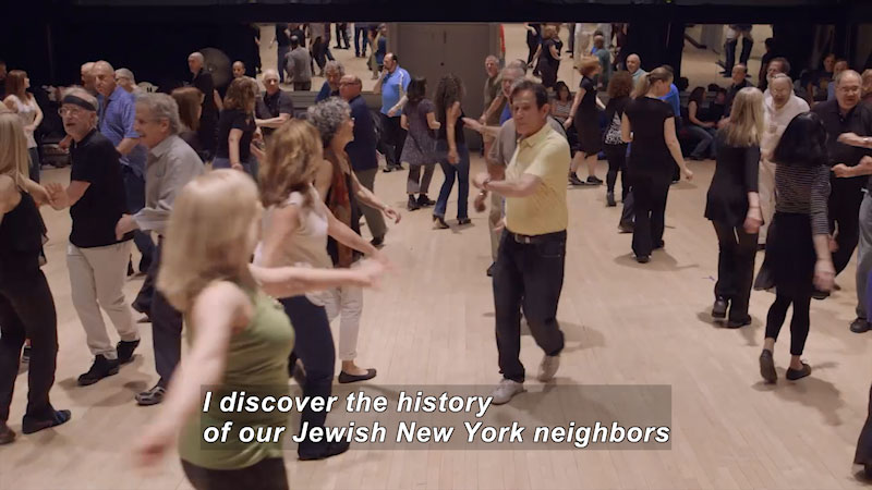 Still image from Bare Feet With Mickela Mallozzi: Jewish Roots