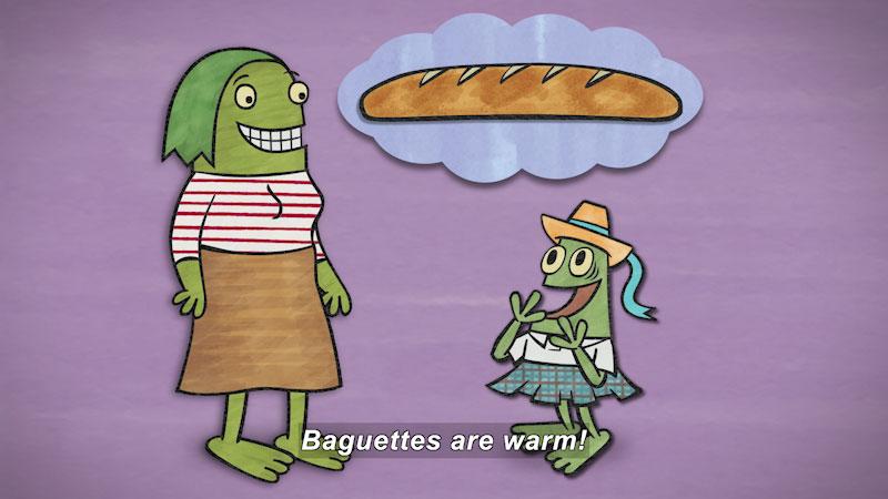 Still image from: Nanette's Baguette
