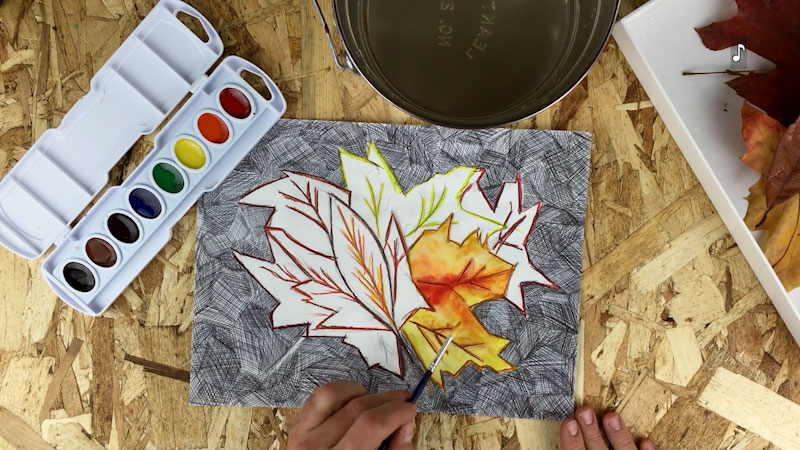 Still image from: Art Ideas With Leaves Inspired By Okeefe