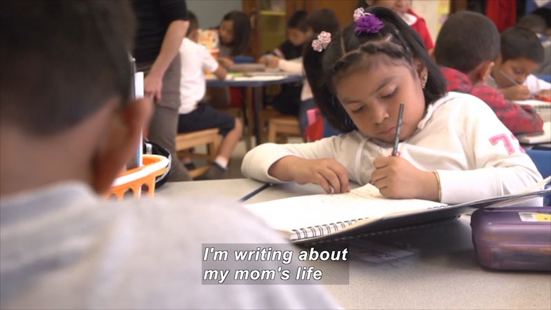 Still image from: Small Truths: The Immigration Experience Through the Eyes of Children