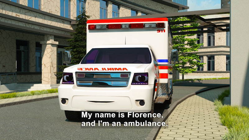 Still image from: Real City Heroes: Florence the Ambulance