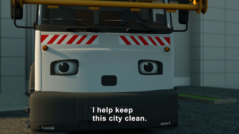Still image from: Real City Heroes: George the Garbage Truck