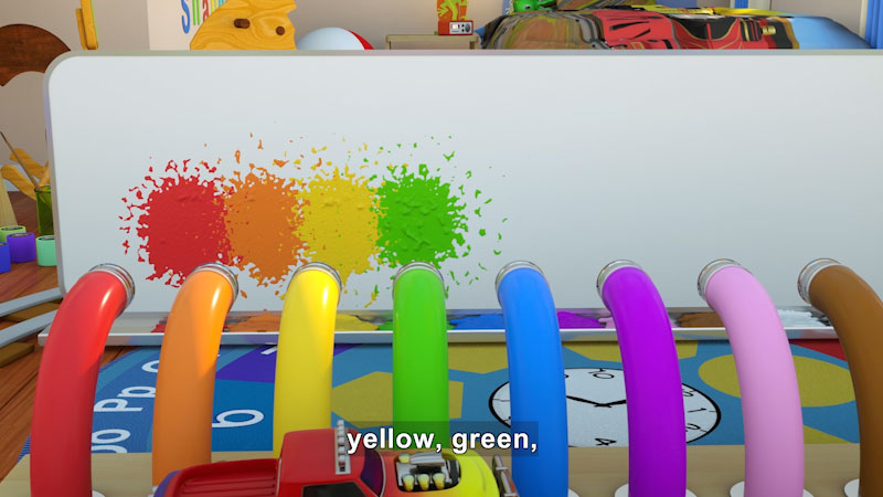 Still image from: Learn Colors While Playing With Paint