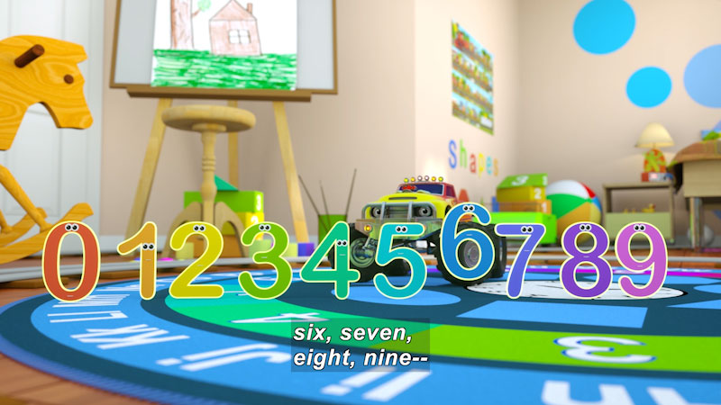Still image from: Learn Numbers With Max the Train & Bill the Monster Truck
