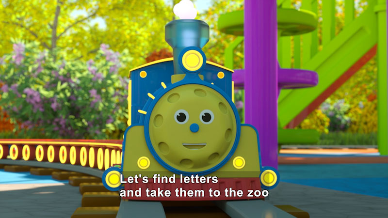 Still image from: Toys: Max the Glow Train--Letters