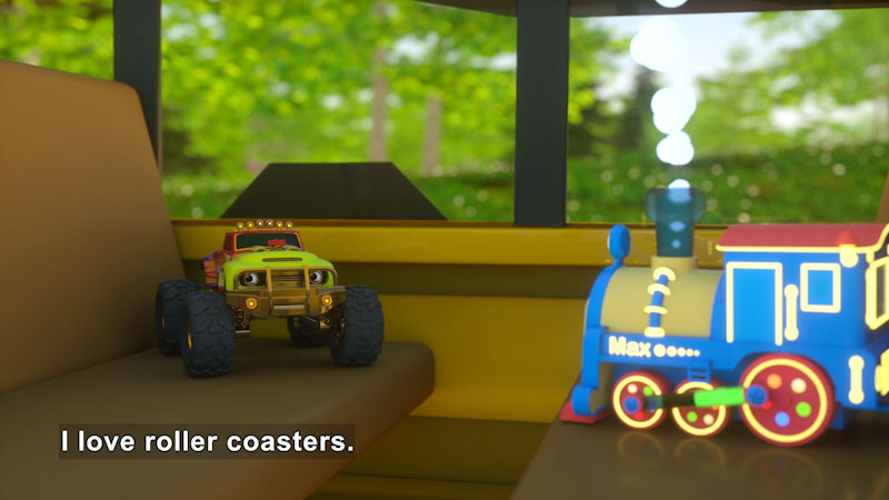 Still image from: Learn Numbers, Shapes, and Colors at the Amusement Park