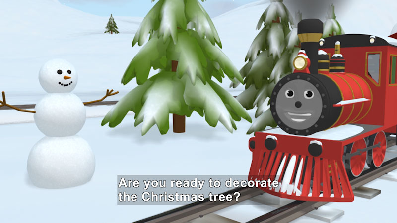 Still image from: Learn Colors and Decorate the Tree With Shawn the Train