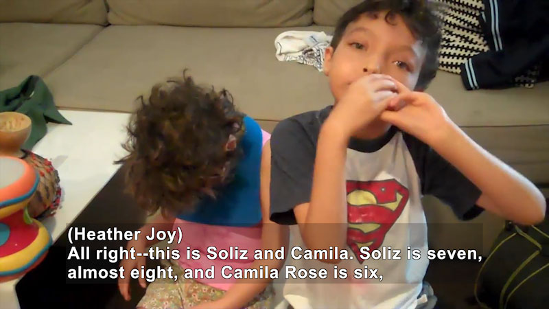 Still image from Meet Soliz and Camila Magdelano