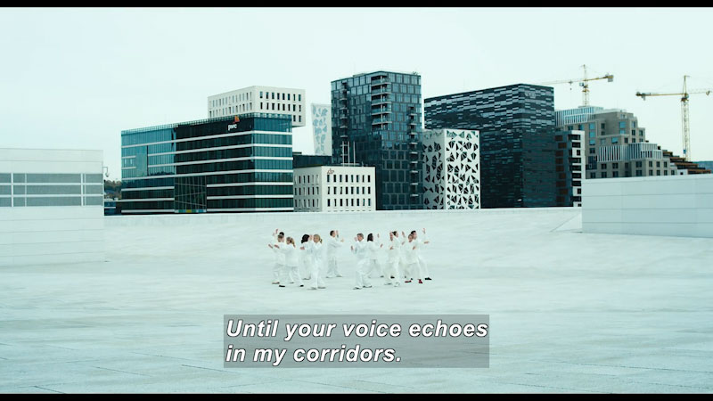 Still image from: Cathedrals of Culture: The Oslo Opera House