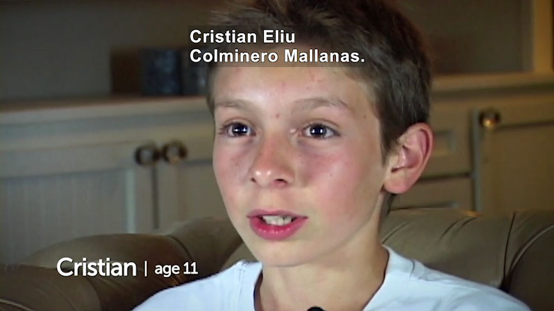 Still image from: Millennials: Growing Up In the 21st Century: Cristian's Story