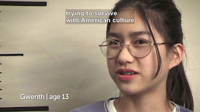 Still image from: Millennials: Growing Up In the 21st Century: Gwenth's Story