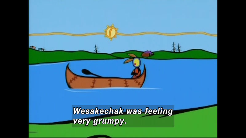 Still image from: Stories From the Seventh Fire: How Wesakechak Got His Name