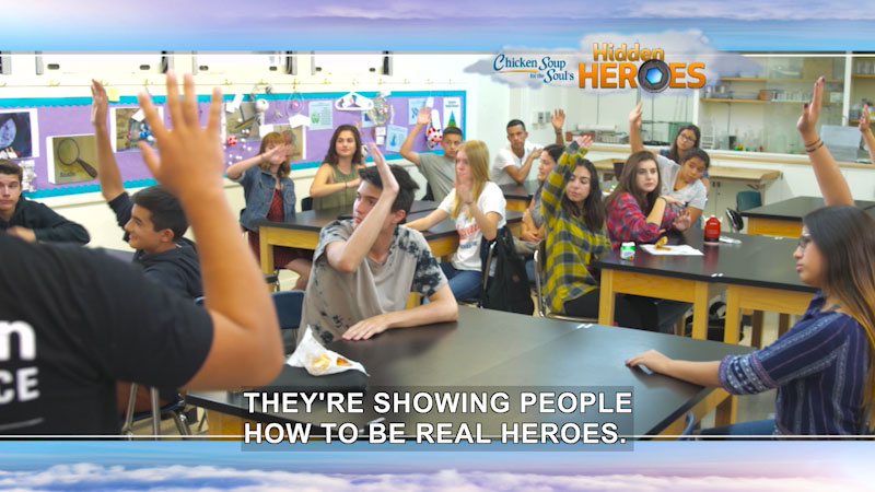 Still image from: Chicken Soup for the Soul's Hidden Heroes: Kid Power