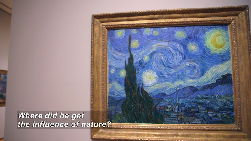 """Still image from: Vincent Van Gogh's """"Starry Night"""" at the MoMA"""