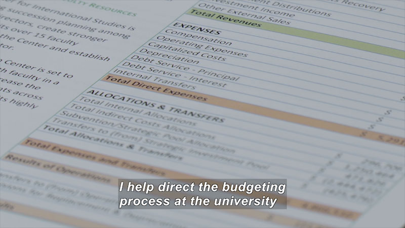 Still image from Career Connections: Fiscal Analyst