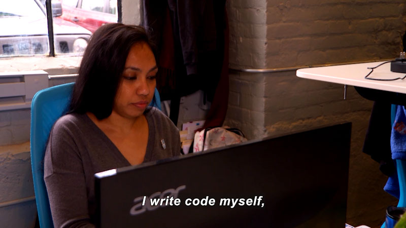 Still image from: I Can Be Anything I Want to Be A to Z: Computer Programmer