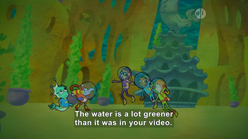 Still image from Cyberchase: A Murky Mystery in Mermaidos