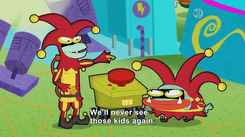 Still image from Cyberchase: Watts of Halloween Trouble