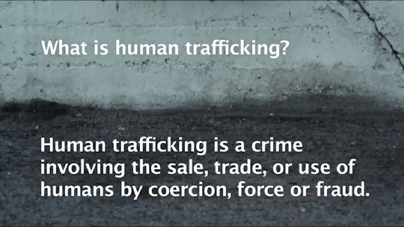 Still image from: Stop Traffick: Human Trafficking in America