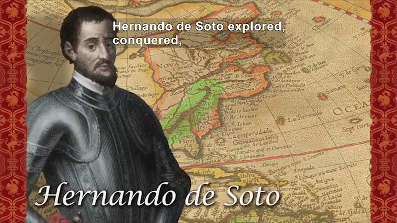 Still image from: World Explorers: Hernando de Soto