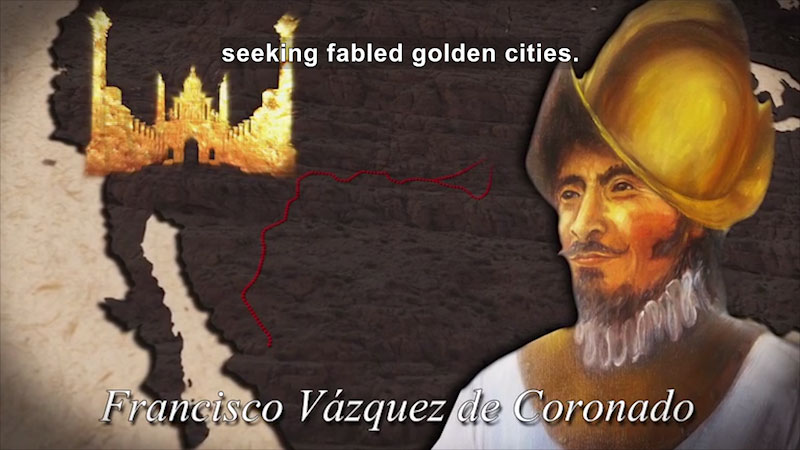 Still image from World Explorers: Francisco Vázquez de Coronado