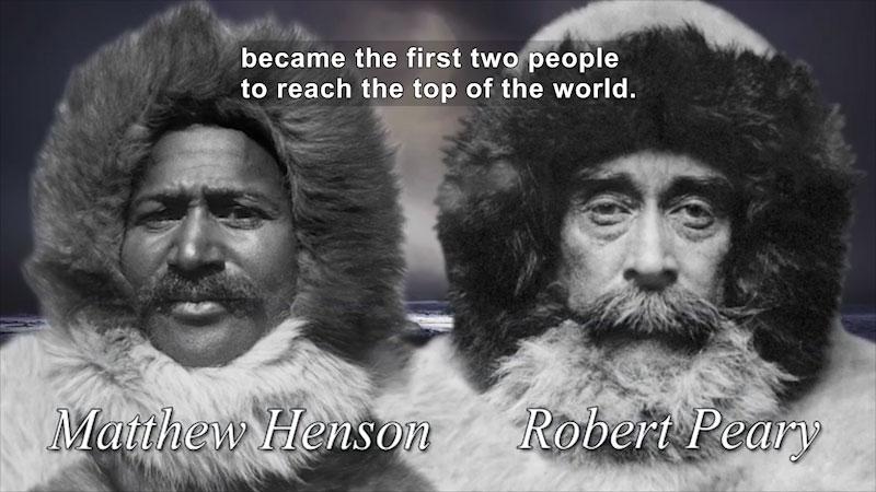 Still image from: World Explorers: Matthew Henson & Robert Peary
