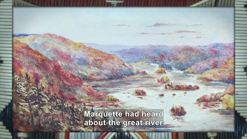 Still image from: World Explorers: Louis Jolliet & Jacques Marquette
