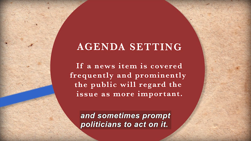 Still image from: Founding Principles: American Governance in Theory and Action (Chapter 7--The Media)