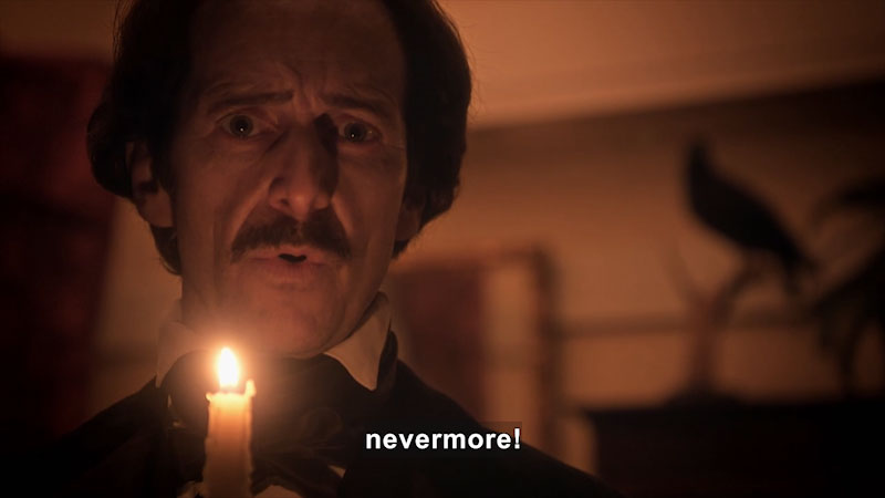"Still image from Edgar Allan Poe: Buried Alive (""The Raven"")"
