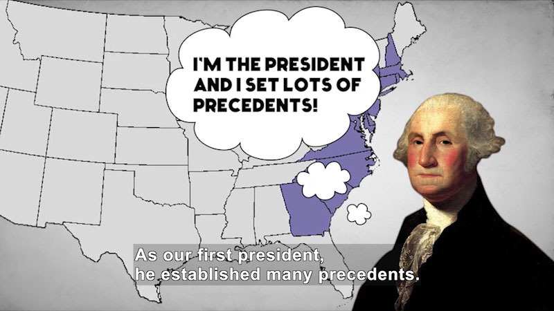 Still image from: 60-Second Presidents: George Washington