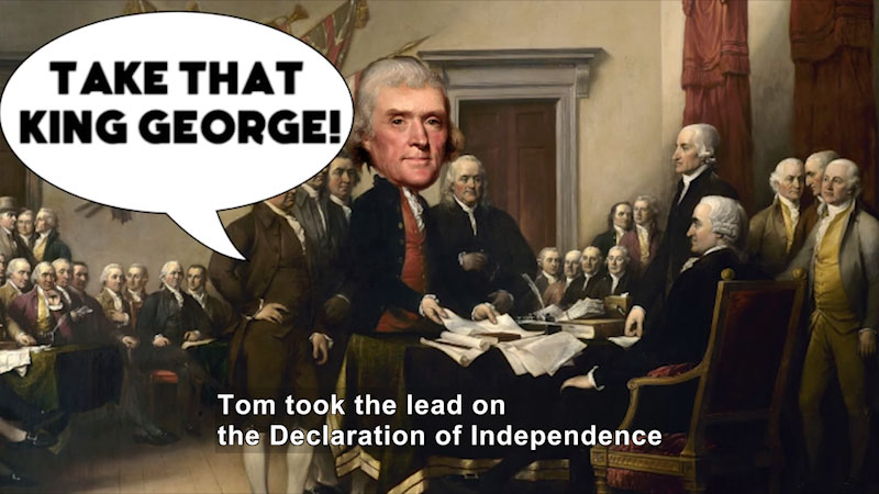 Still image from 60-Second Presidents: Thomas Jefferson