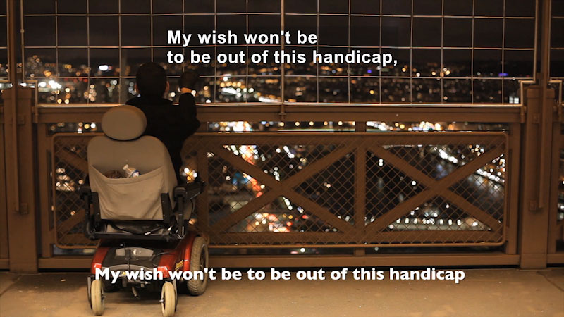 Still image from: Wheelchair Diaries: One Step Up