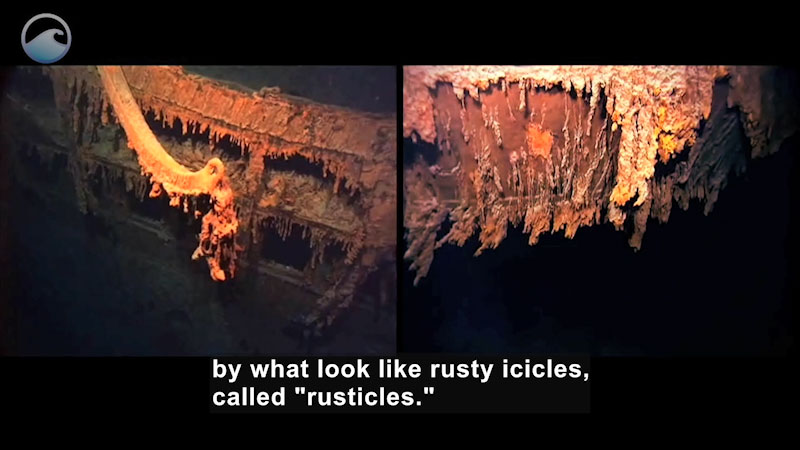 Still image from: The Titanic Wrecksite