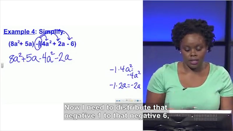 Still image from: Welcome to Algebra I: Adding and Subtracting Polynomials
