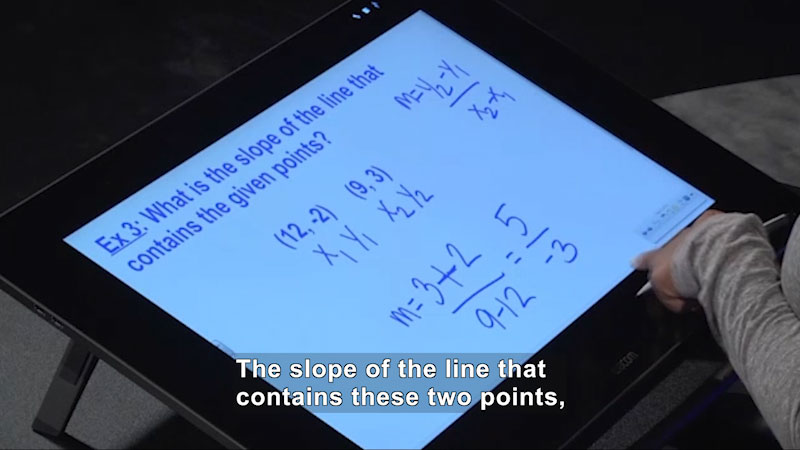 Still image from: Welcome to Algebra I: Calculating the Slope When Given Two Points