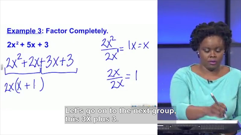 Still image from: Welcome to Algebra I: Factoring Trinomials With a Leading Coefficient Not Equal to 1