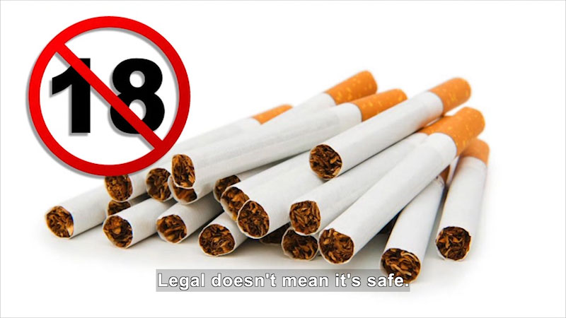 Still image from: Let's Talk About Tobacco