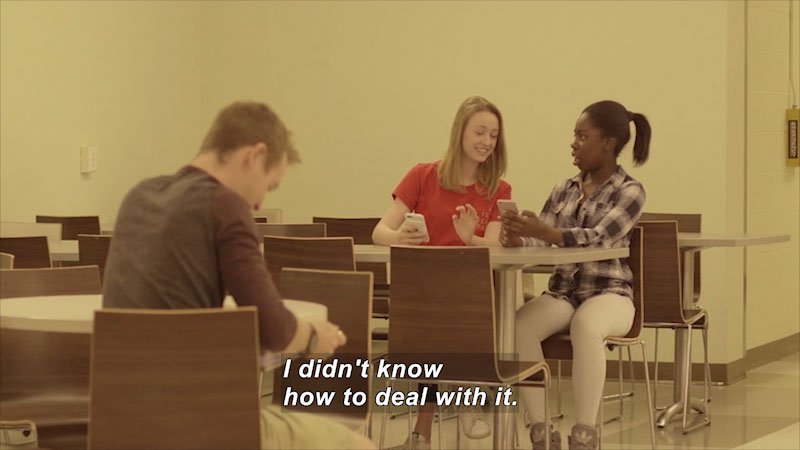 Still image from: Teens 101: Cyberbullying (Cristina's Story)