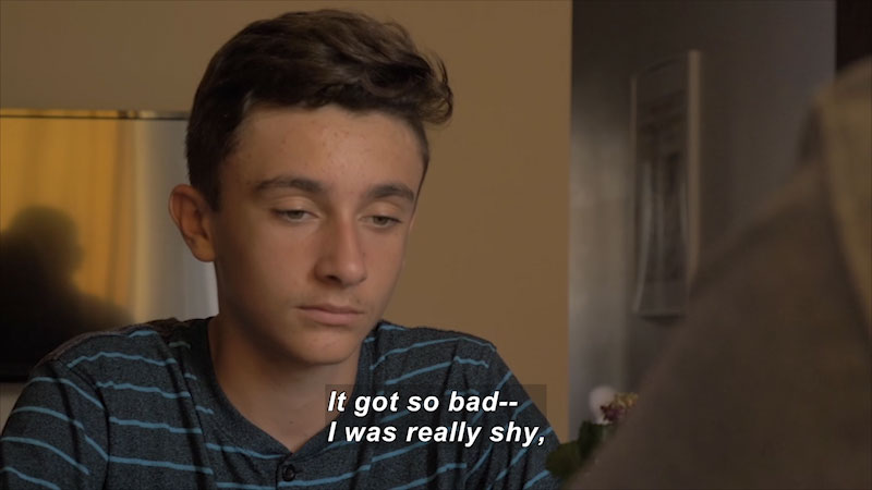 Still image from: Teens 101: Understanding Aspergers (Shawn's Story)