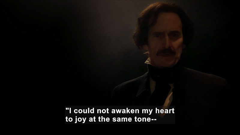Still image from: Edgar Allan Poe: Buried Alive (Lord Byron, Poe, and Poetry)