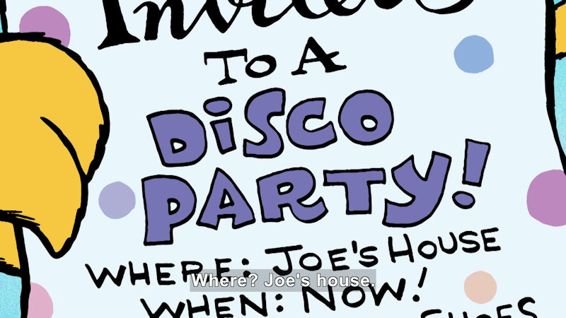 Still image from: Groovy Joe: Dance Party Countdown