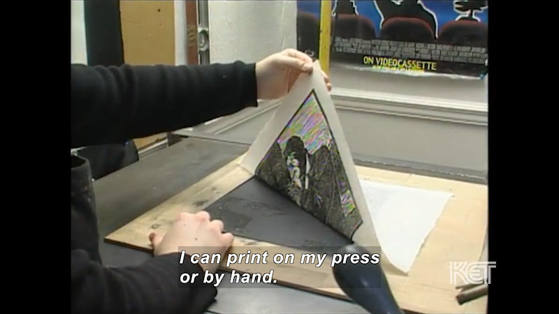 Still image from: Visual Arts Toolkit: Printmaking--Stephanie Potter