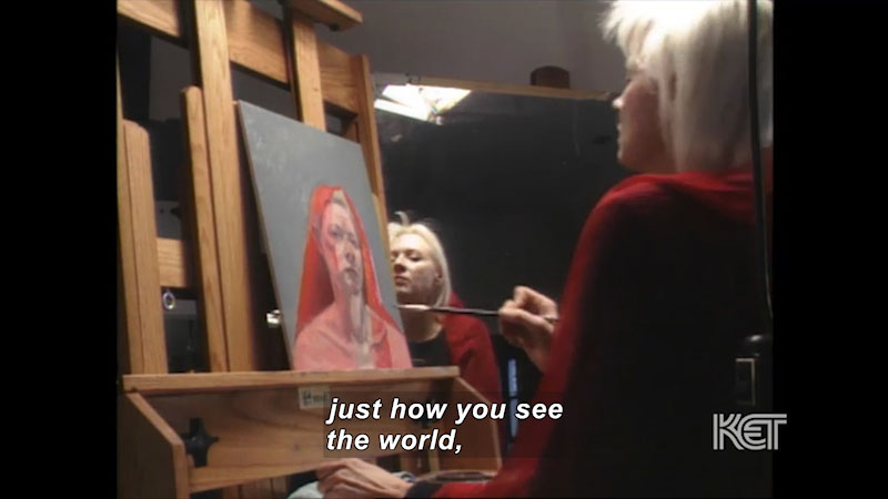 Still image from: Visual Arts Toolkit: Self-Portrait--Gaela Erwin