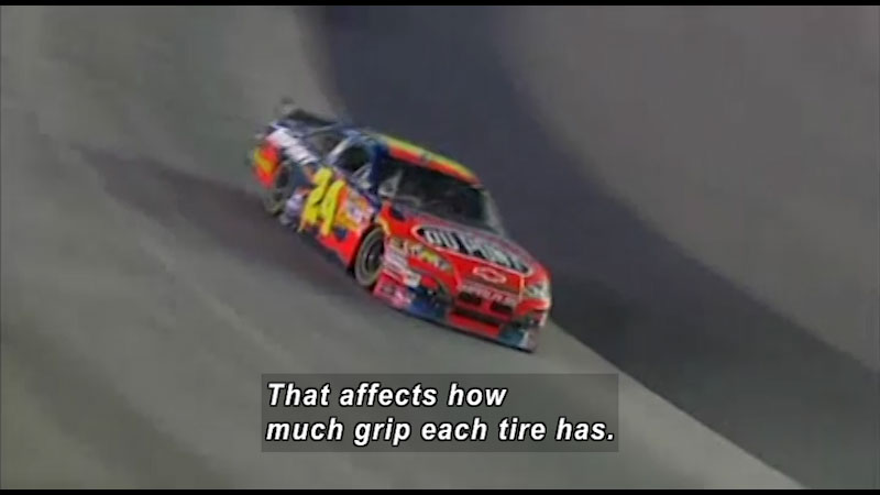 That affects how much grip each tire has.