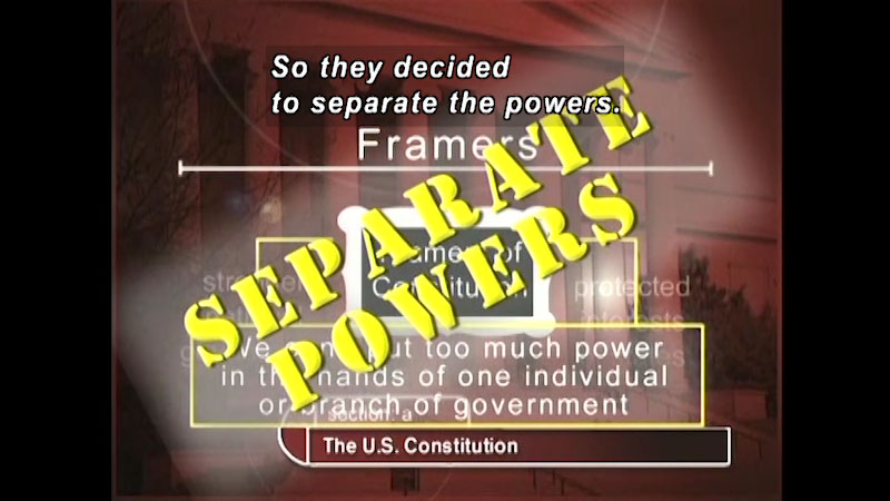 Still image from: Standard Deviants School: The United States Constitution (American Government Program 2)