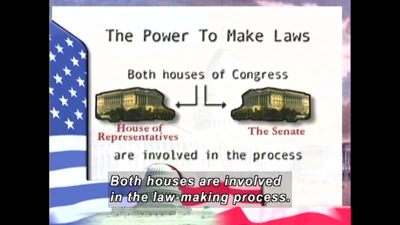 Still image from: Standard Deviants School: The Three Branches of American Government (American Government Program 6)
