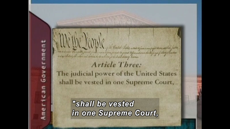 Still image from: Standard Deviants School: The Judicial System (American Government Program 10)