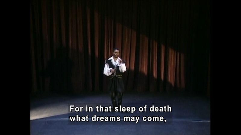 Still image from: Standard Deviants School: Hamlet Themes (Shakespeare Program 6)